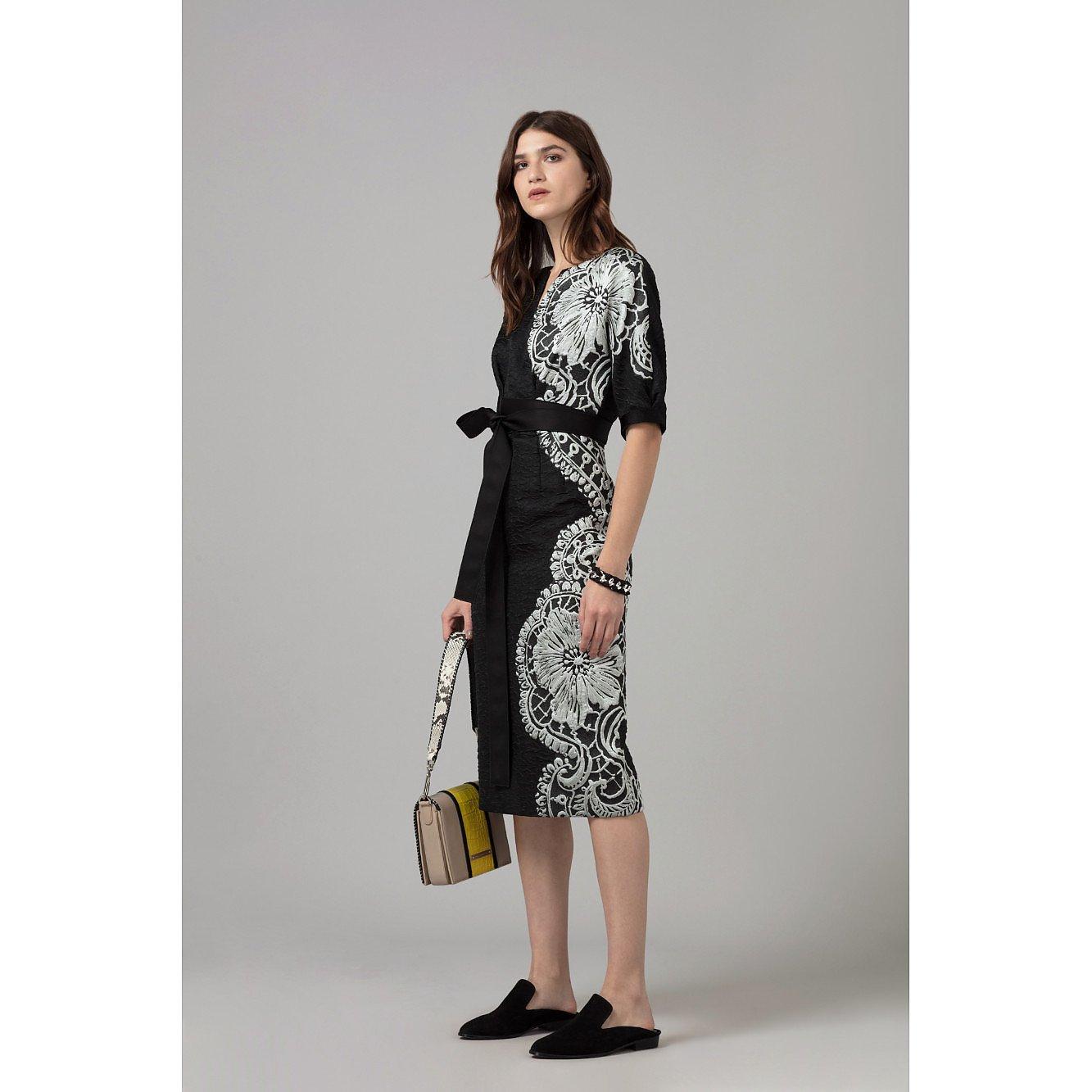 Amanda Wakeley Cloque Jacquard Shift Dress