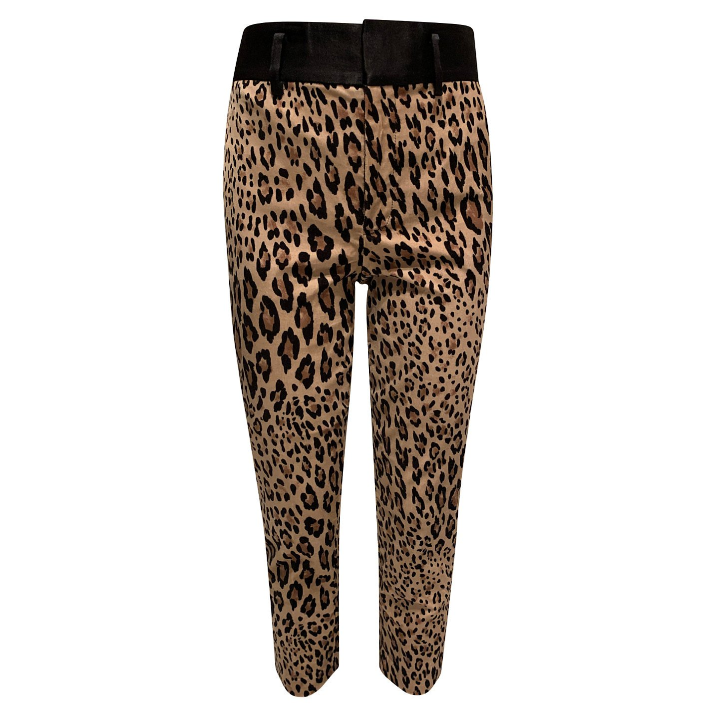 Frame Leopard-Print Cropped Trousers