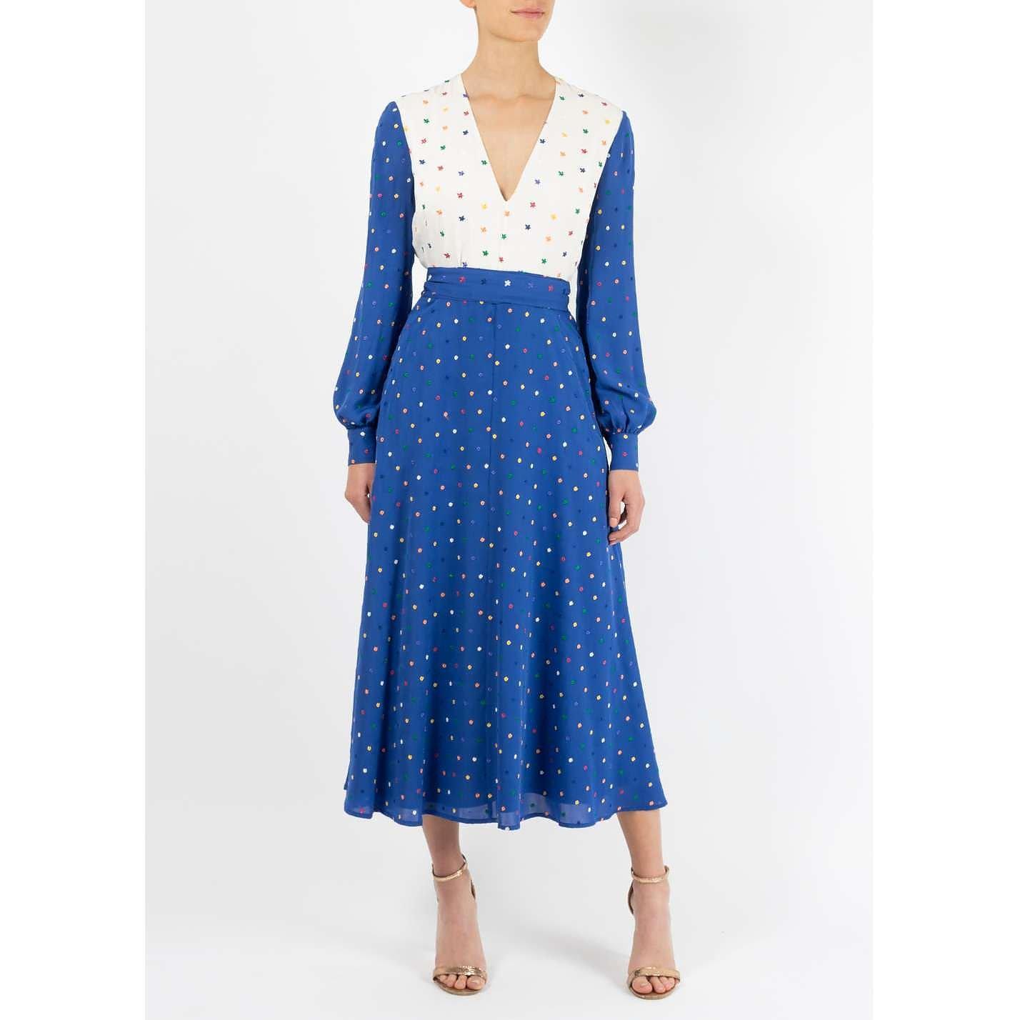 Dhela Embroidered Midi Dress