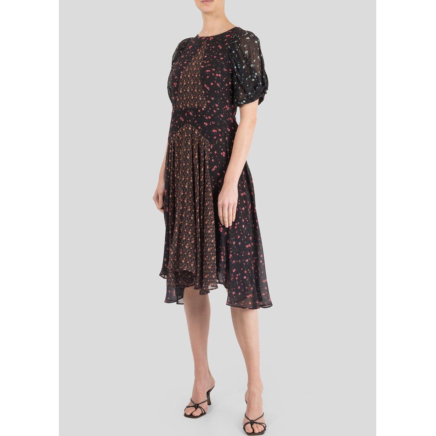 MASSCOB Floral Patchwork Midi Dress