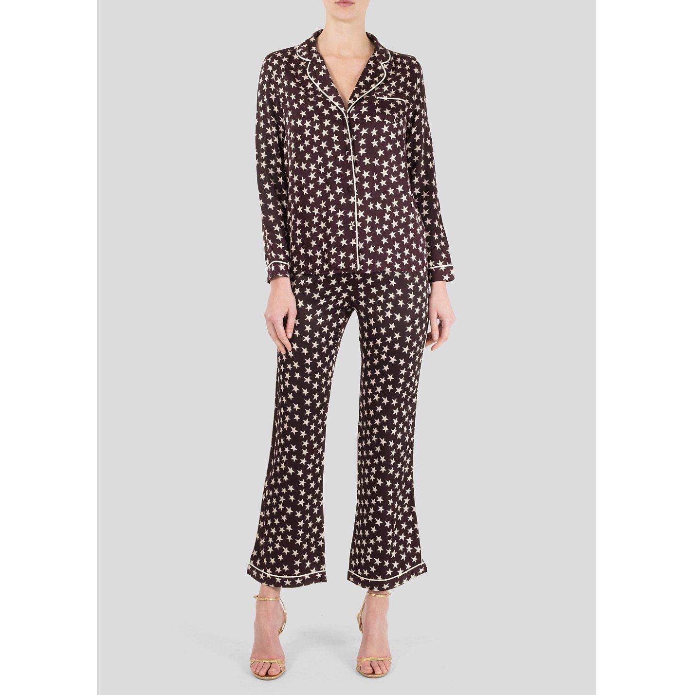 LOVE Stories Star Print Satin-Twill Pyjama Set