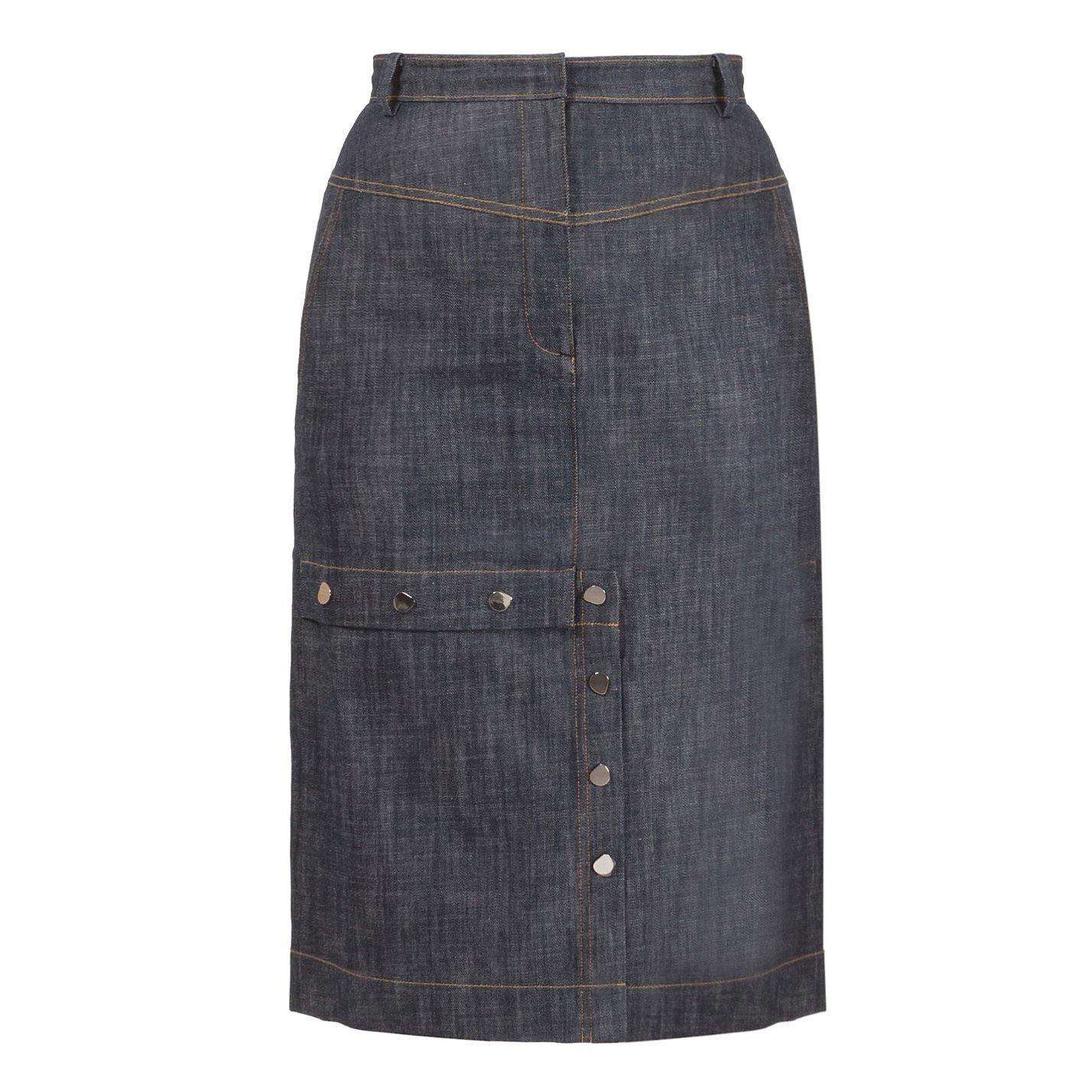 Tibi Jamie Denim Skirt