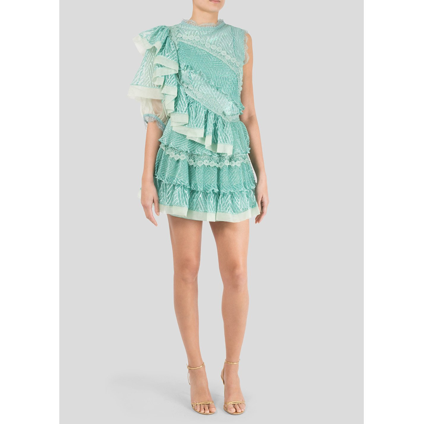 Bora Aksu Ruffle Mini Dress
