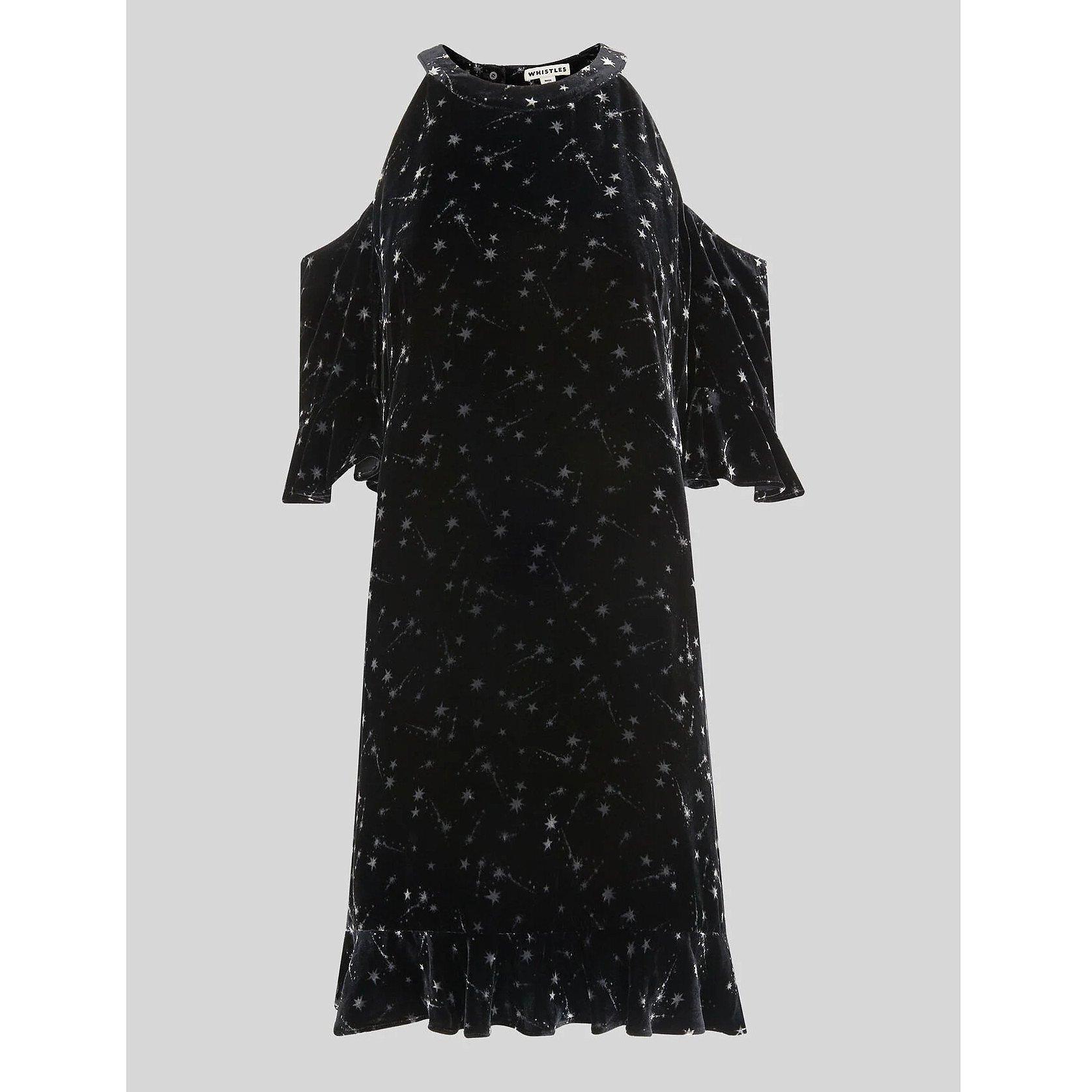 Whistles Velvet Constellation Dress