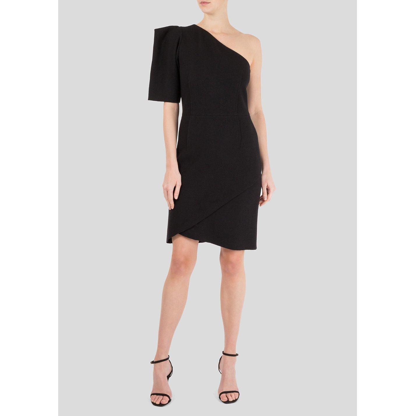Michael Kors One Shoulder Wool Dress