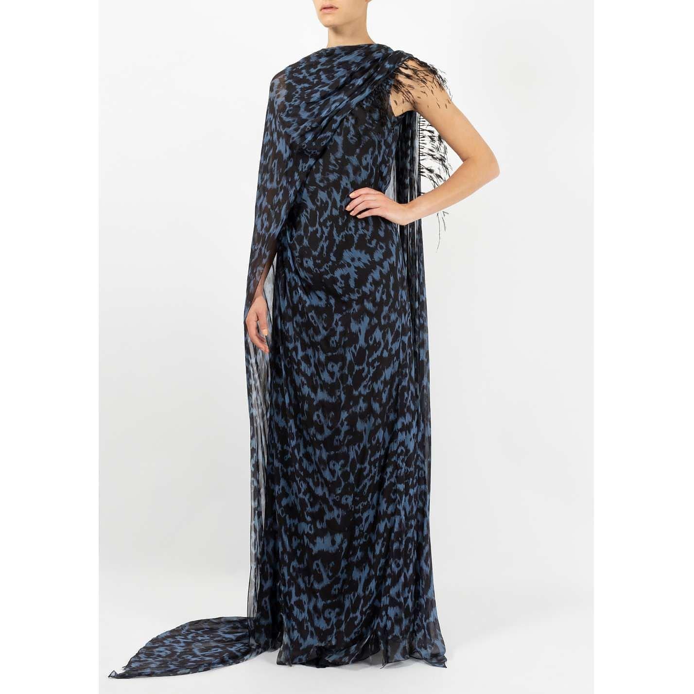 Vintage Leopard Print Silk Gown