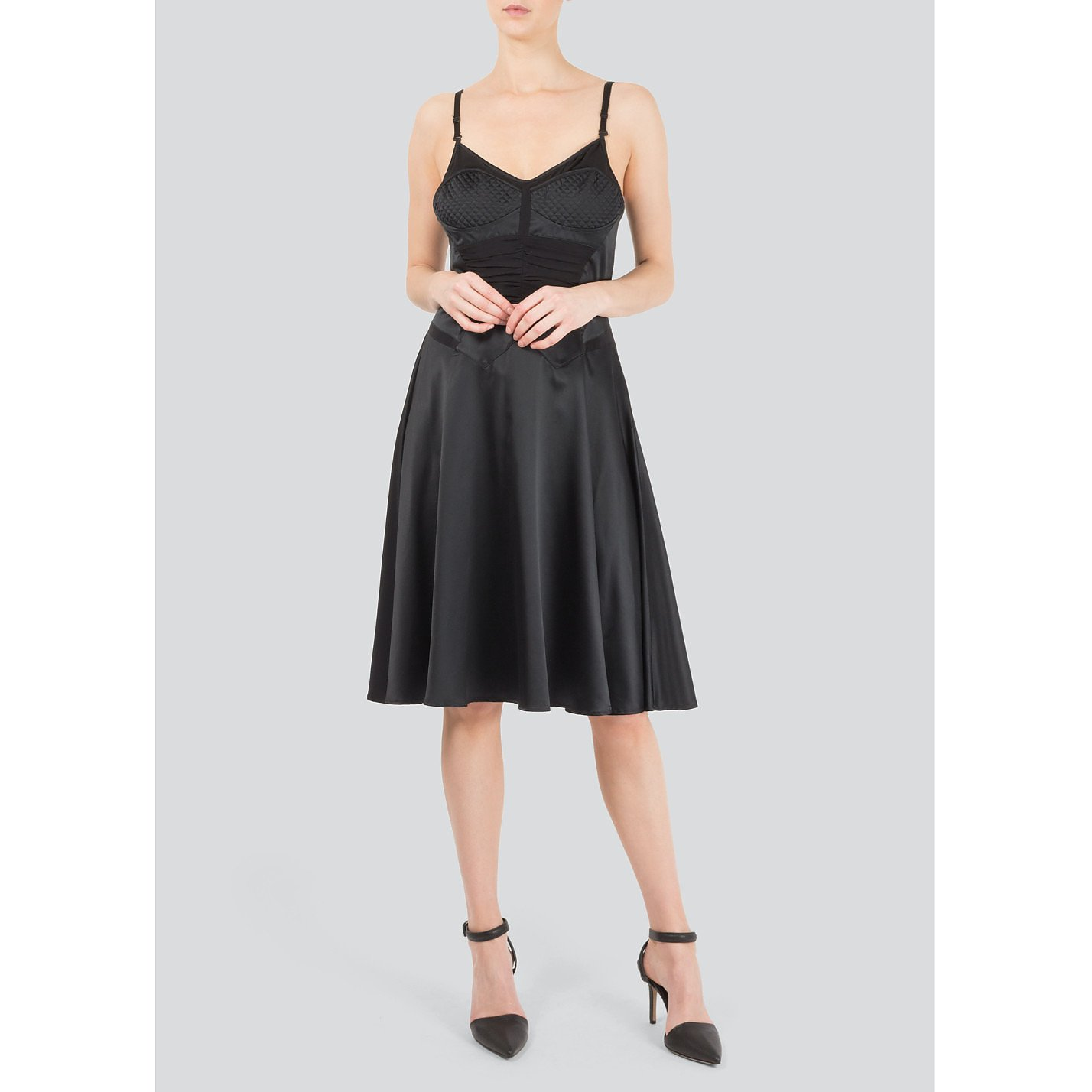 Just Cavalli Sleeveless Silk Cocktail Dress
