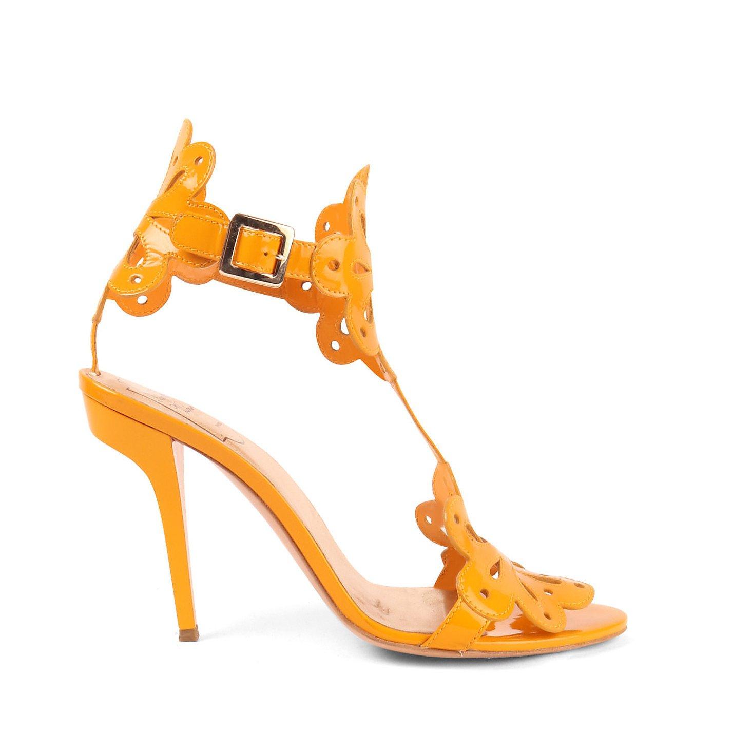 Roger Vivier Laser Cut Patent Sandals