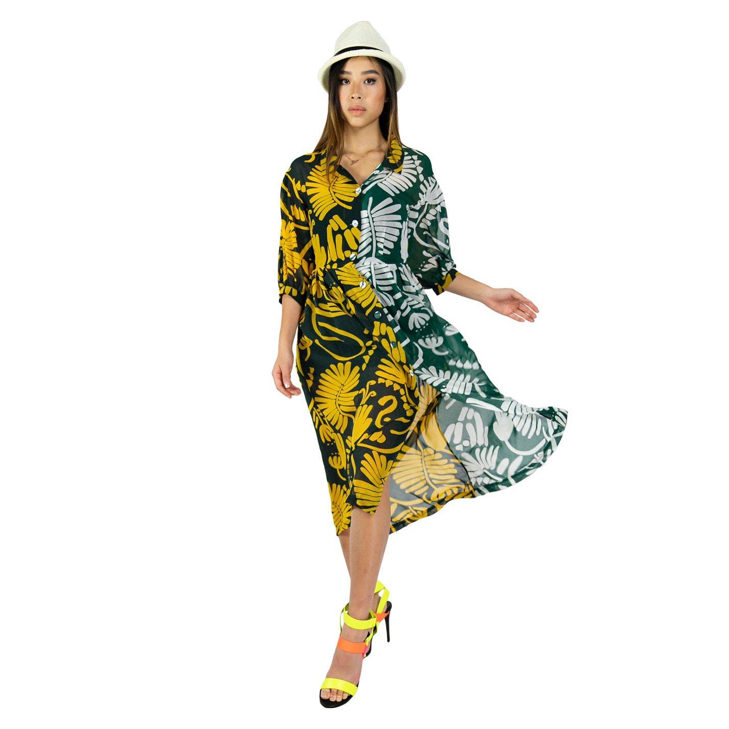 Syra J Contrast Panel Dress