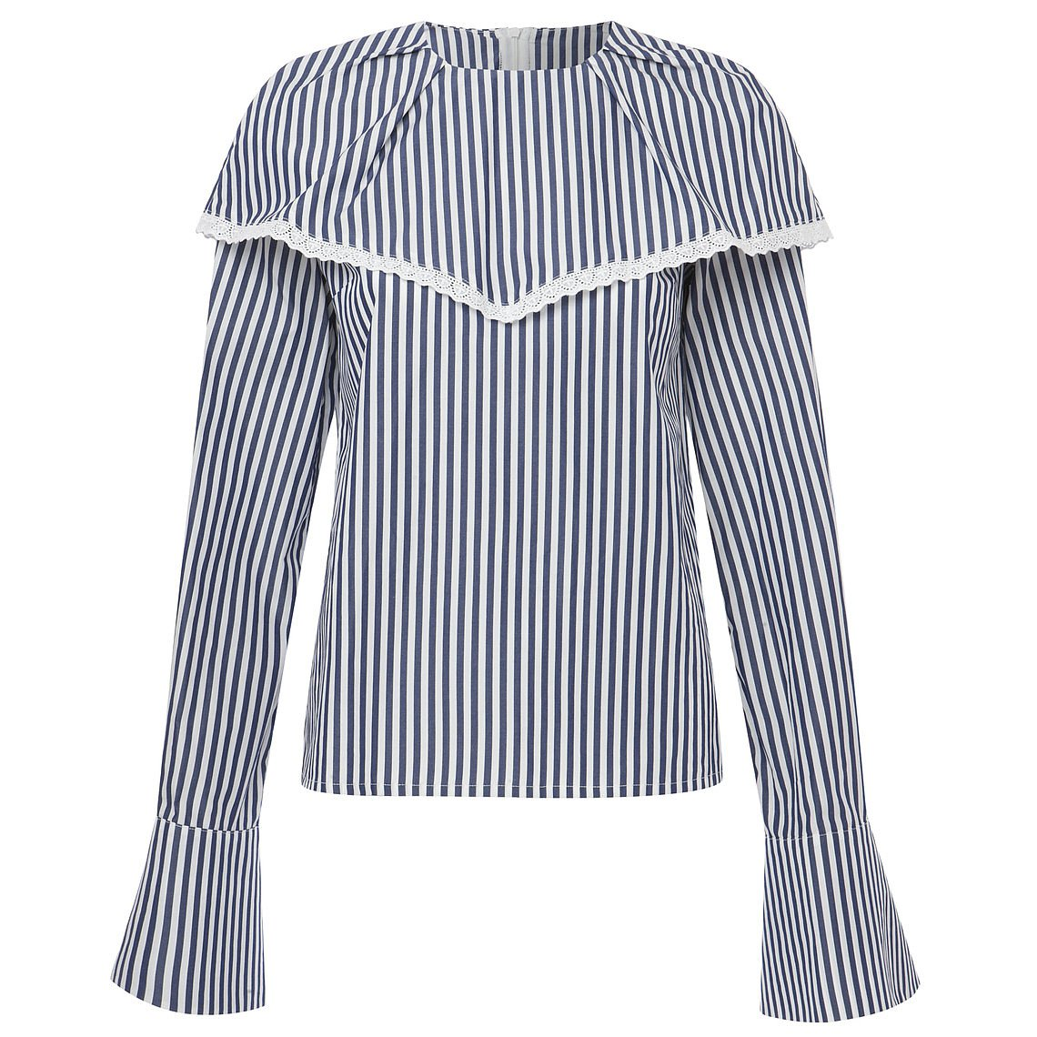 Mother of Pearl Ollie Striped Poplin Blouse