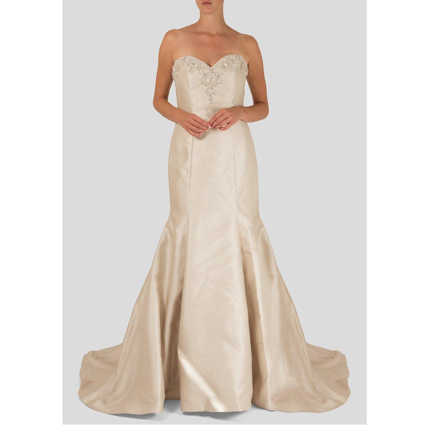 Morilee Strapless Embellished Bridal Gown