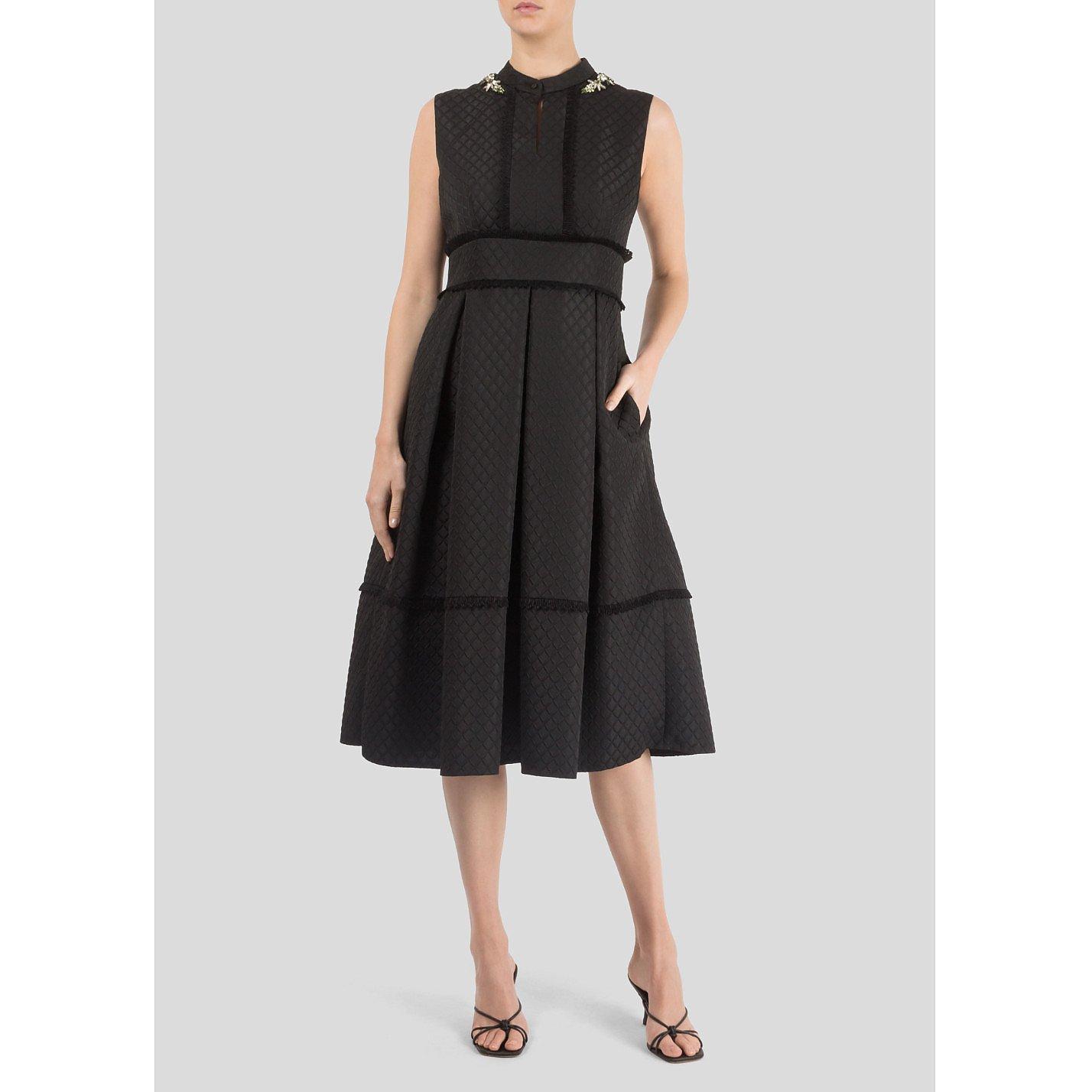 Erdem Jewelled Neckline Dress