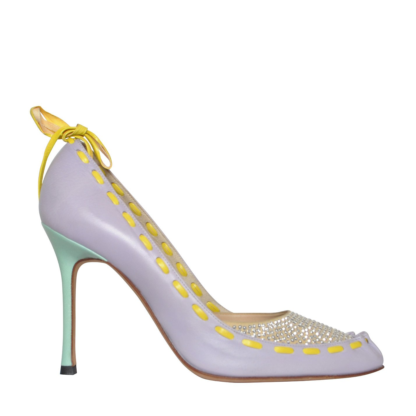Versace Embellished Pastel Pumps