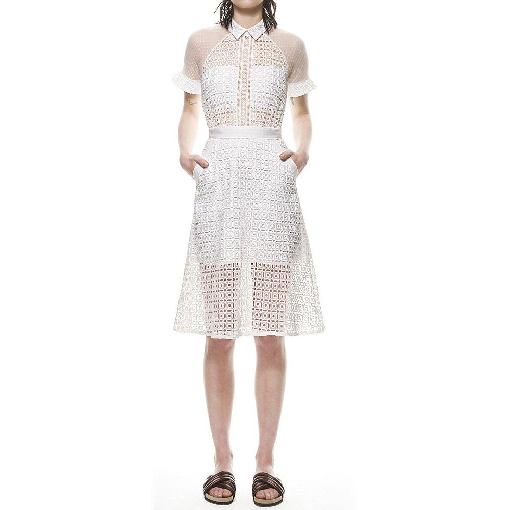 Self-Portrait Pattern Play Lace Dress