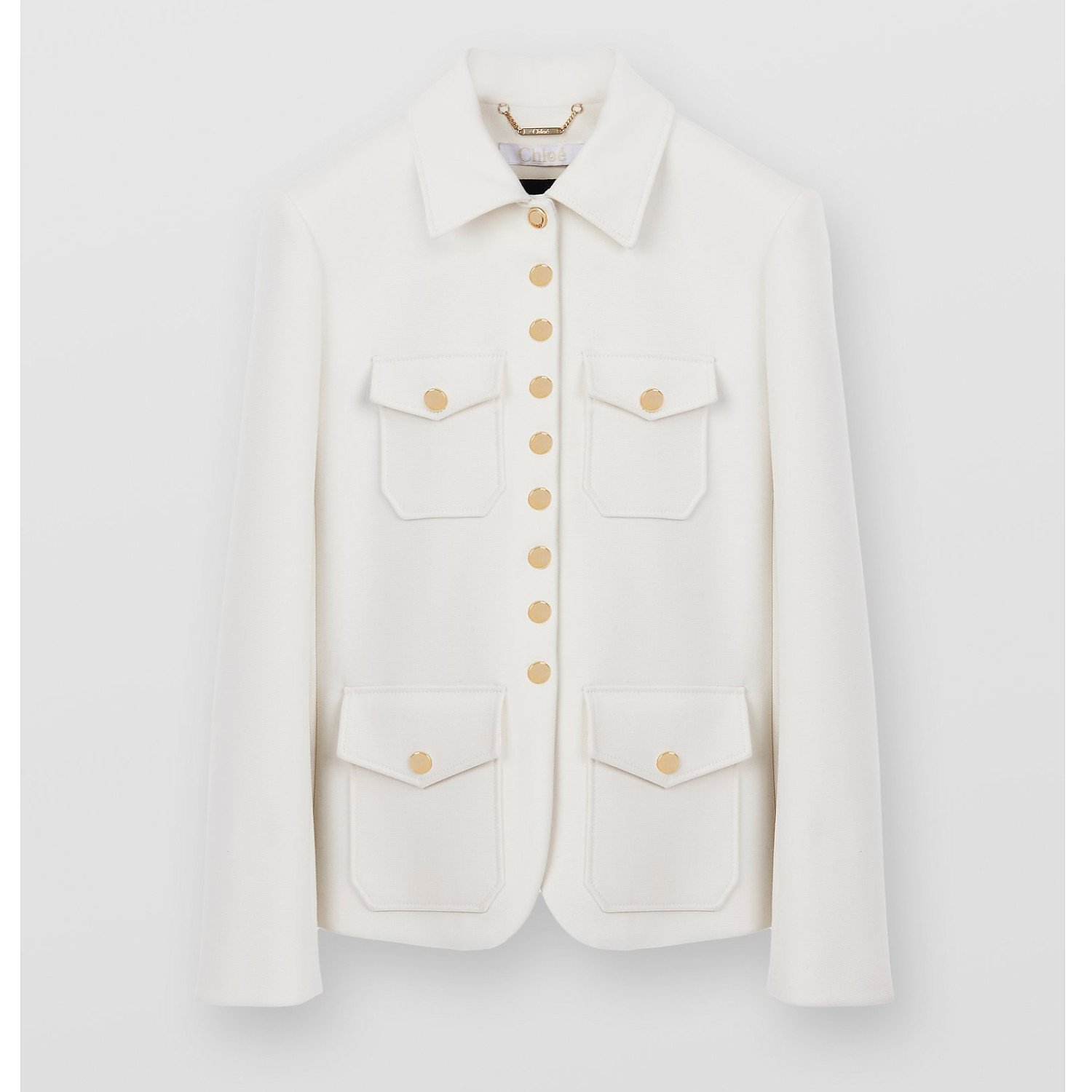 Chloé Military Wool-Crêpe Jacket