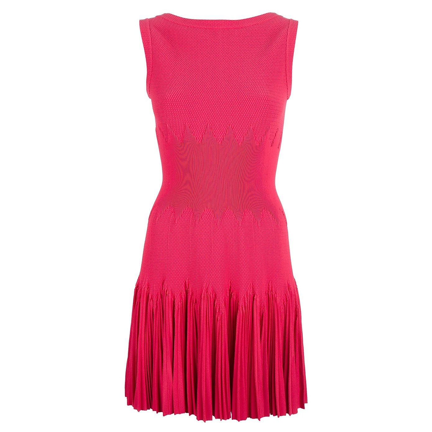 Alaïa Fitted Textured Knit Dress