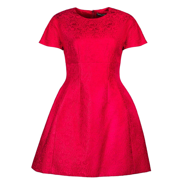 DOLCE & GABBANA Brocade A-Line Mini Dress