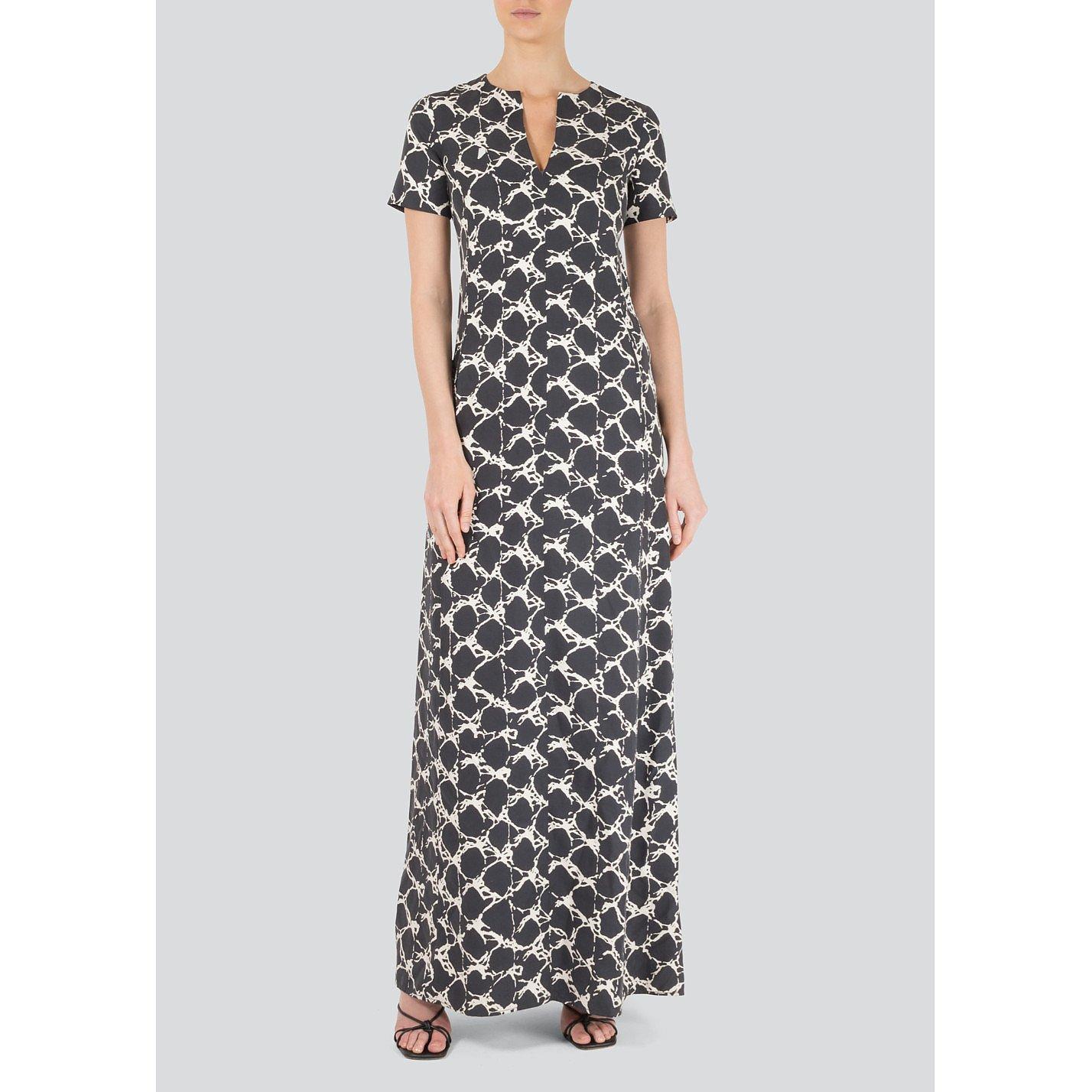 Balenciaga Printed Silk Maxi Dress