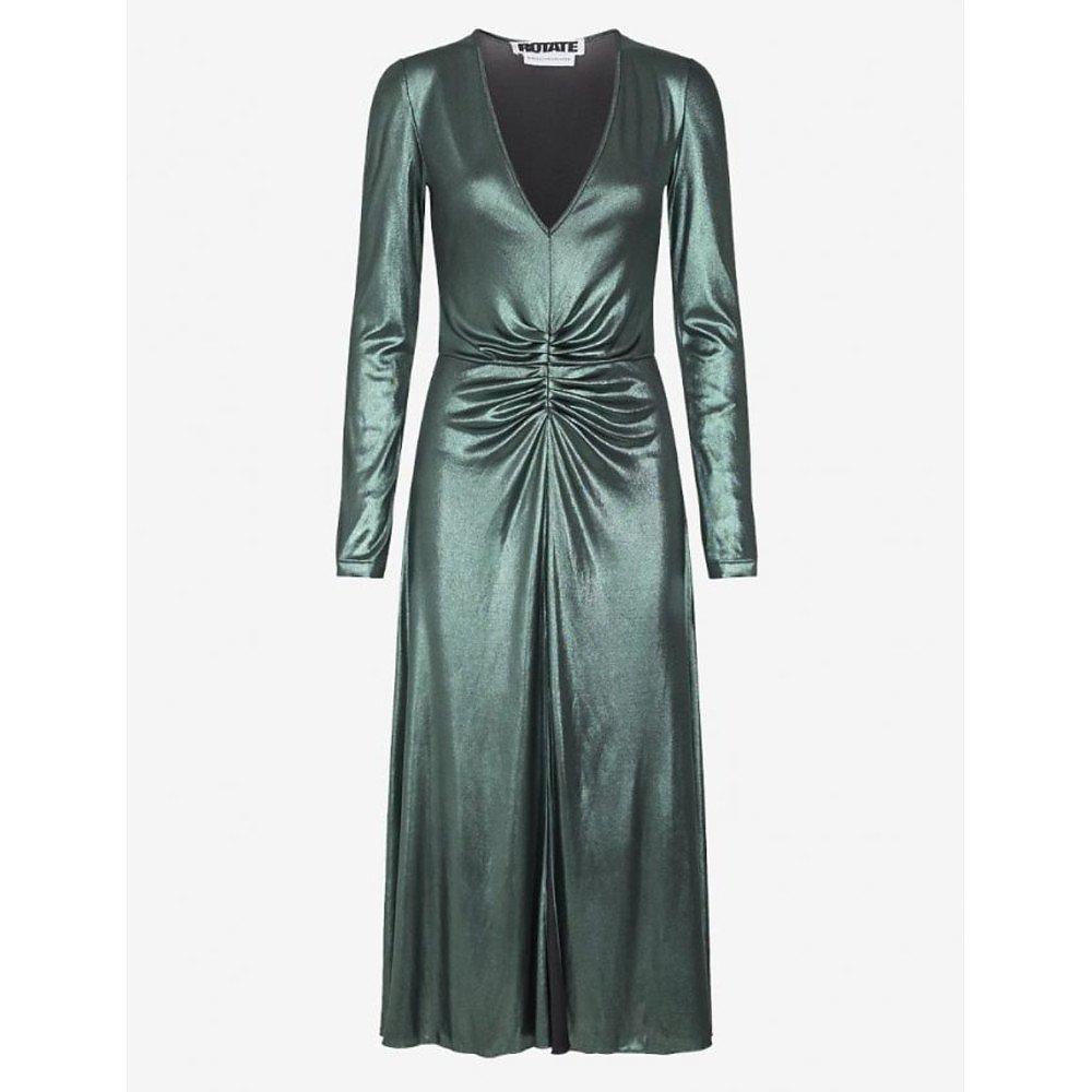 ROTATE Birger Christensen Number 7 Metallic Dress