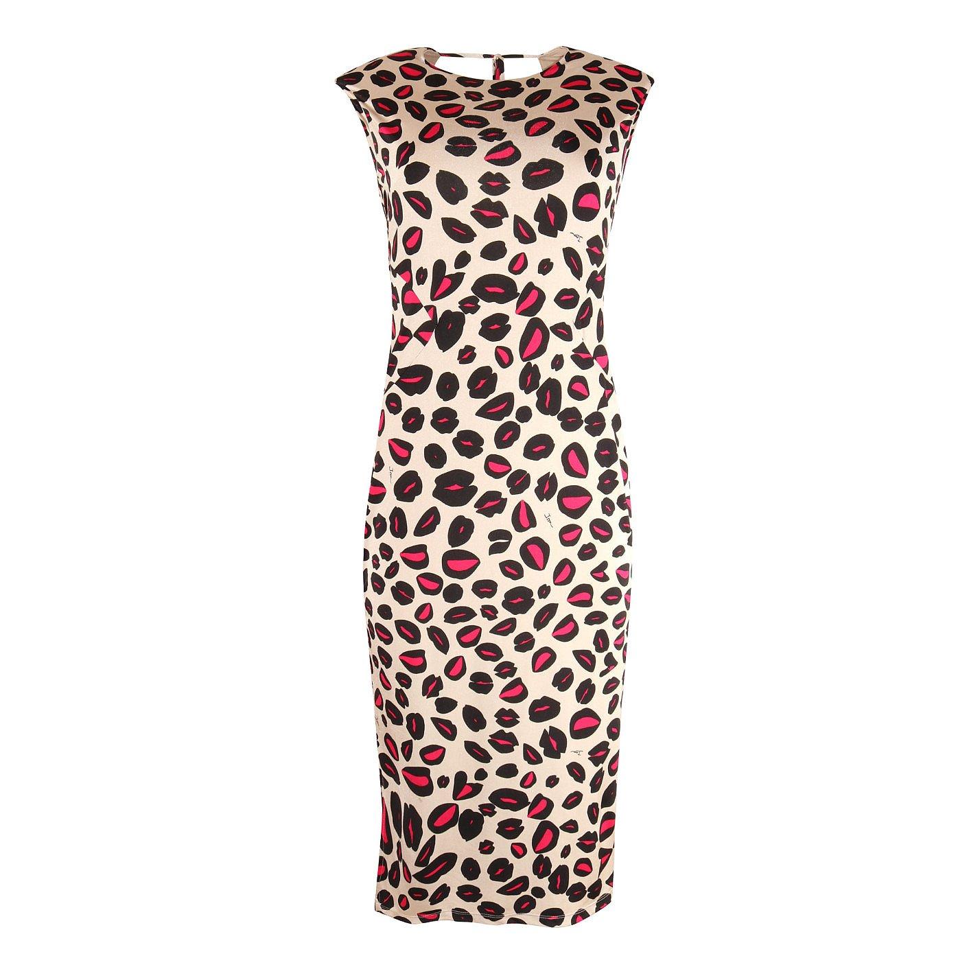 ISSA Printed Stretch Dress