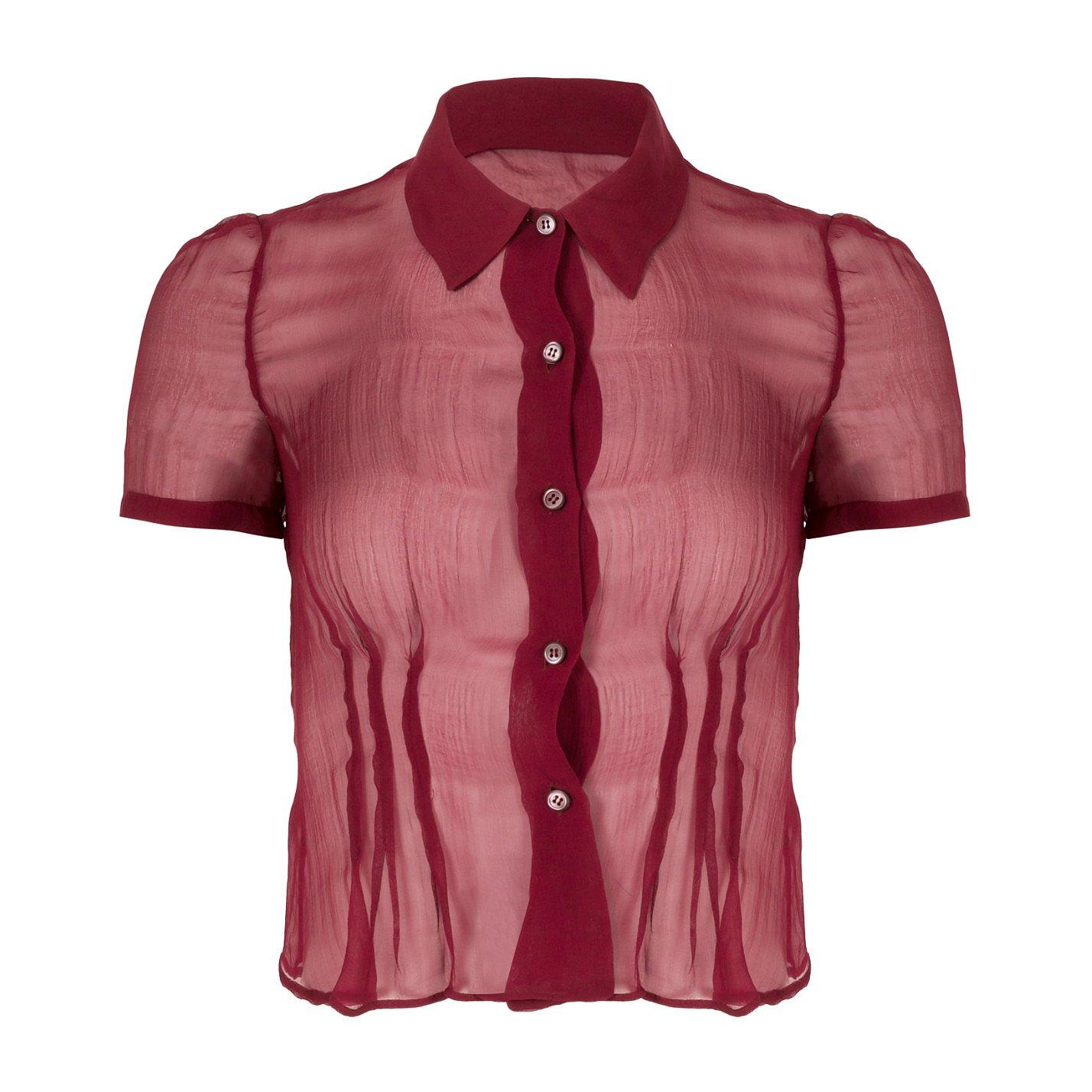 PRADA Sheer Silk Shirt