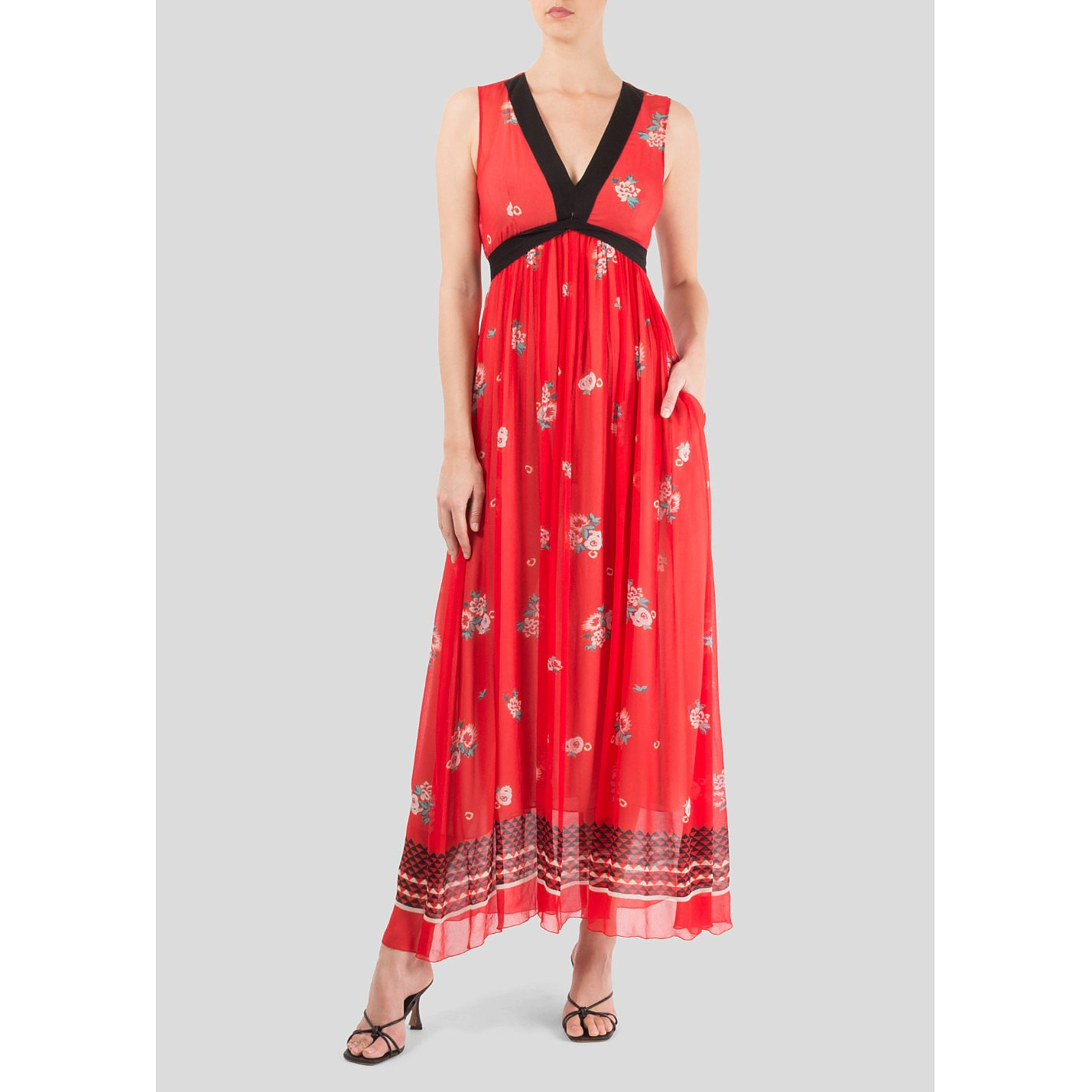Philosophy Floral Print Maxi Dress