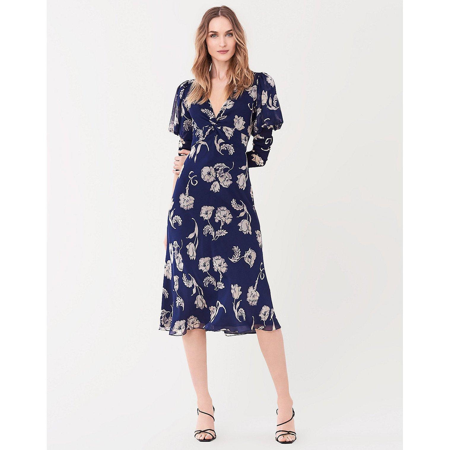 Diane von Furstenberg Leilah Silk-Chiffon Midi Dress