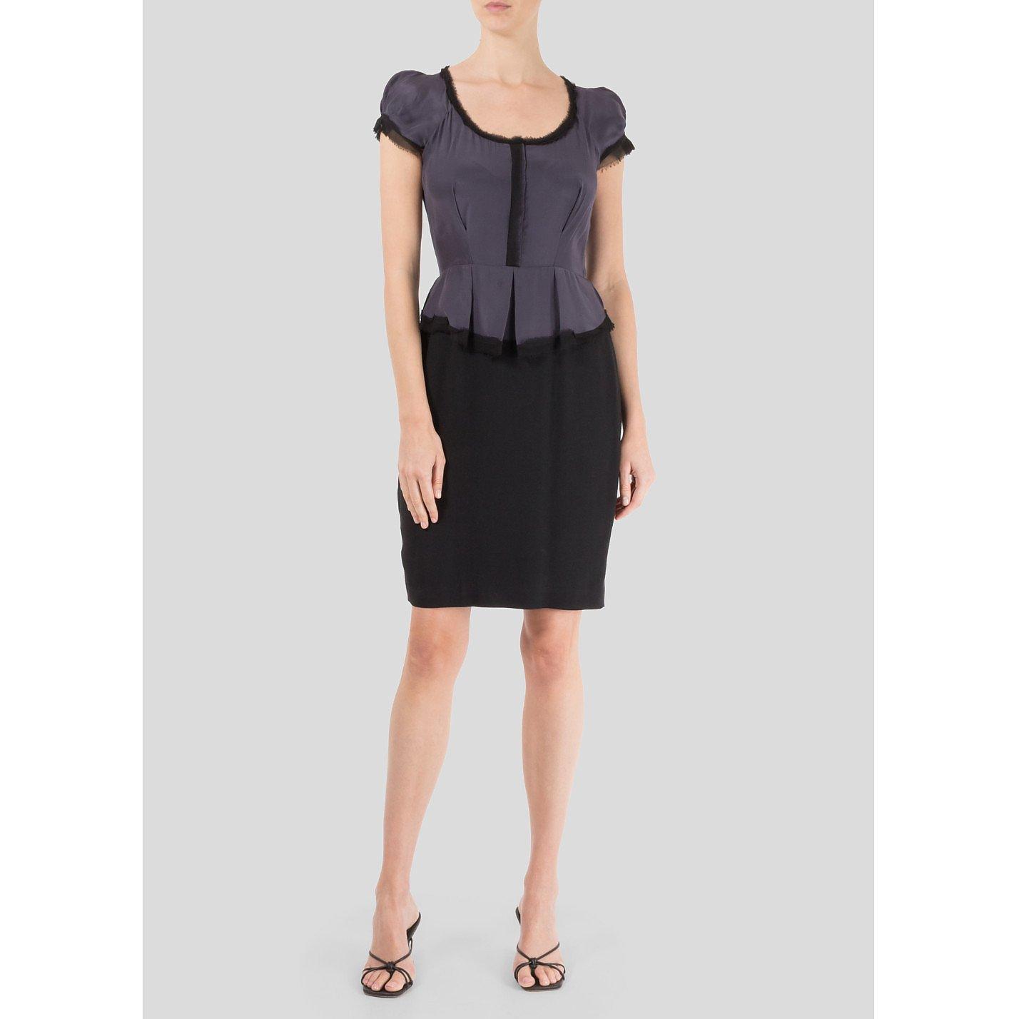 Rebecca Taylor Silk Peplum Dress