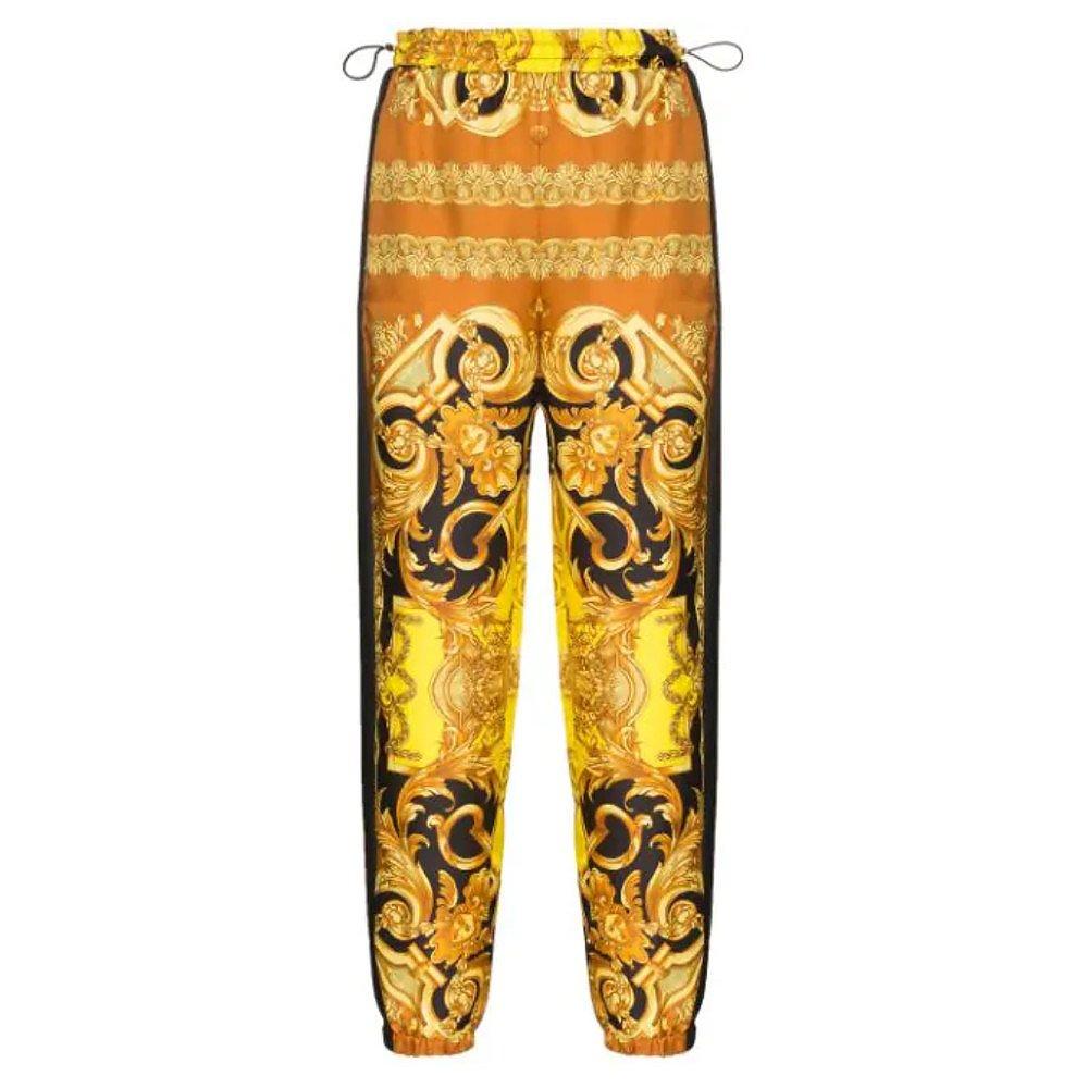 Versace Baroque Print Silk Track Pants