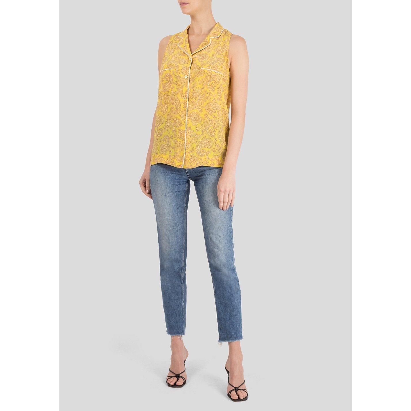 Stella McCartney Printed Sleeveless Silk Shirt