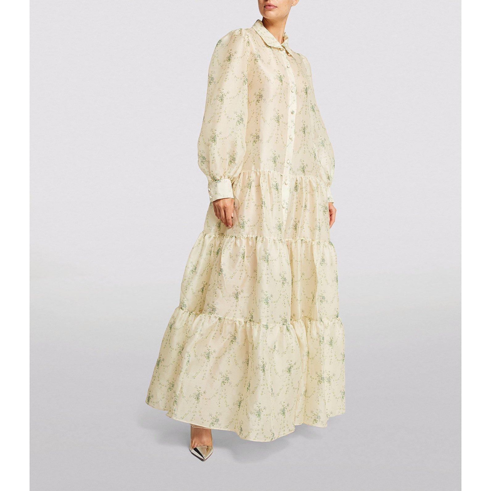 Brock Collection Tiered Silk Queenesta Maxi Dress