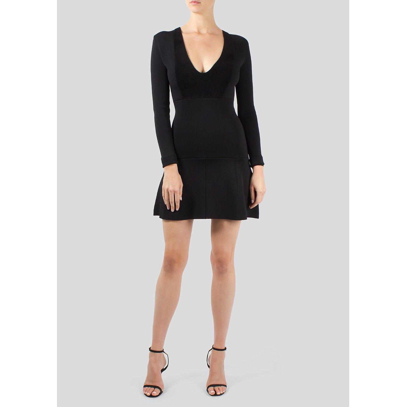 ISSA Mini Dress with Deep V Neck