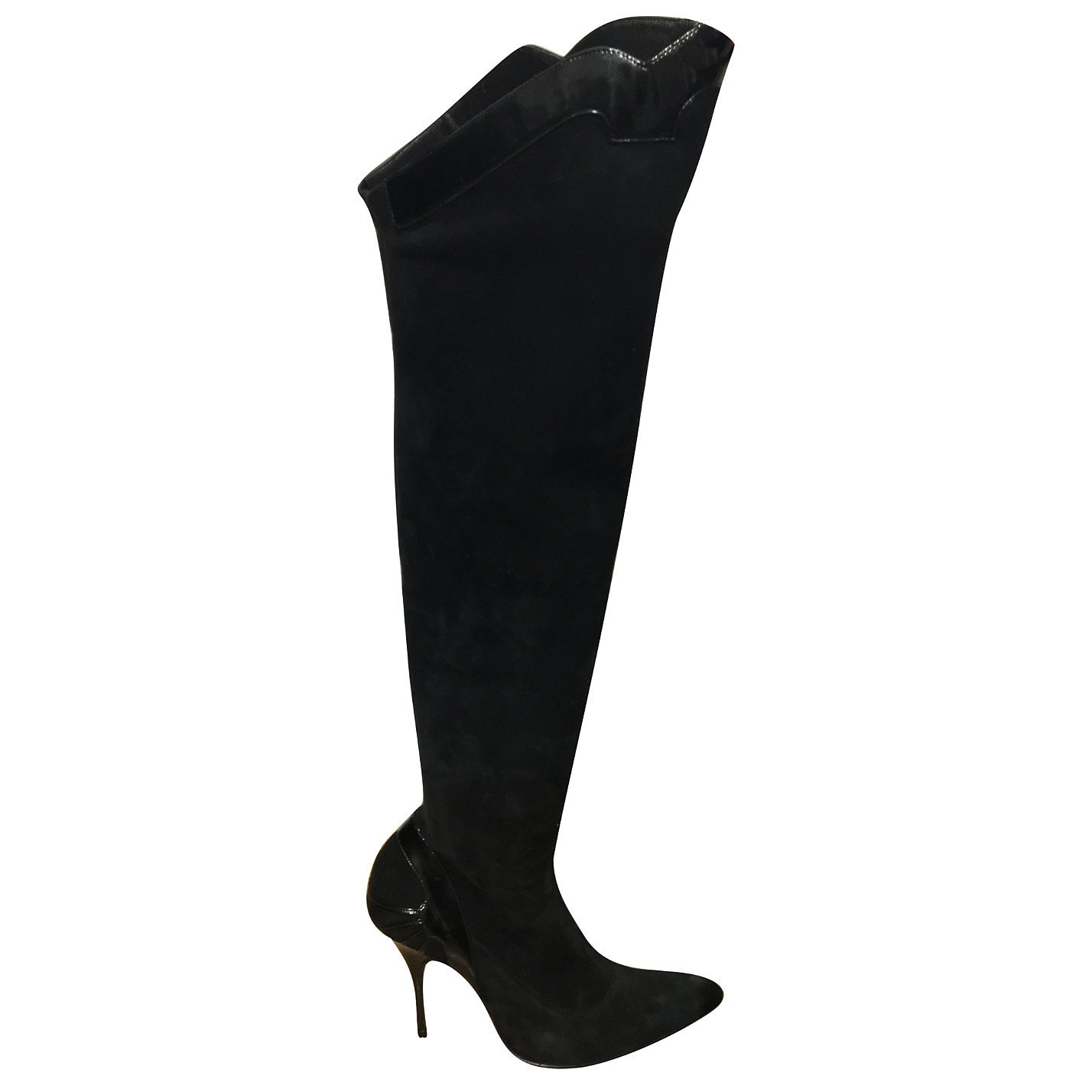 Givenchy Suede Patent-Trimmed Boots
