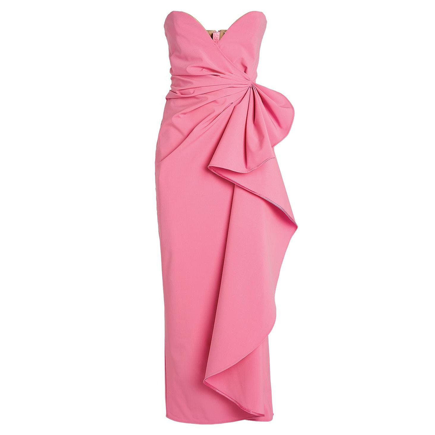 The Attico Strapless Drape Gown