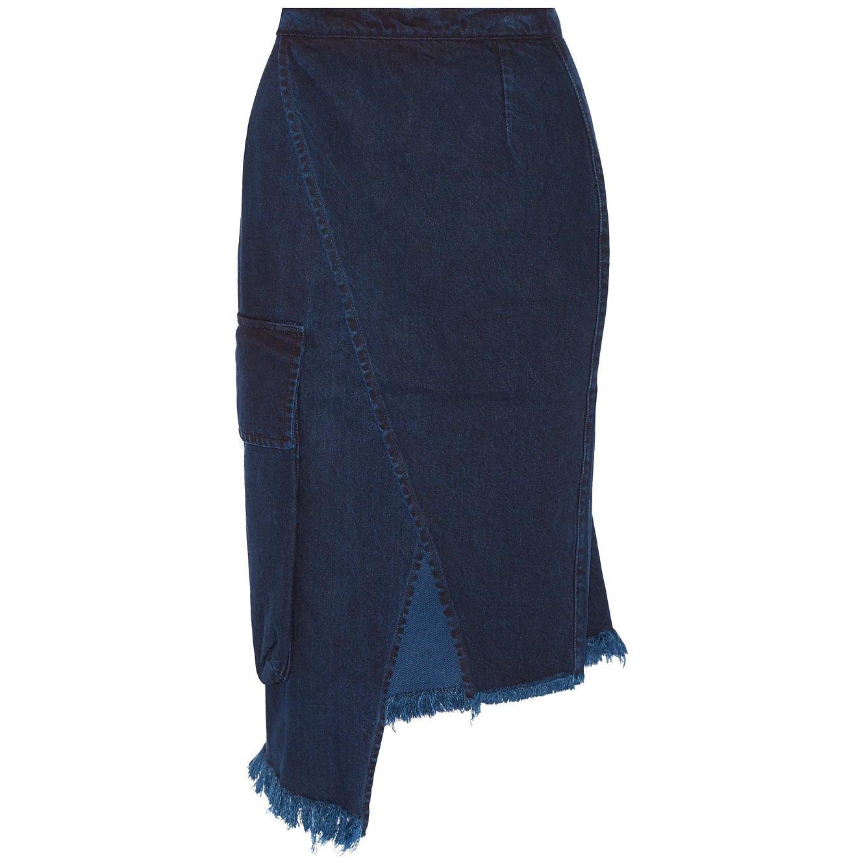Marques'Almeida Asymmetric Wrap-Effect Denim Skirt