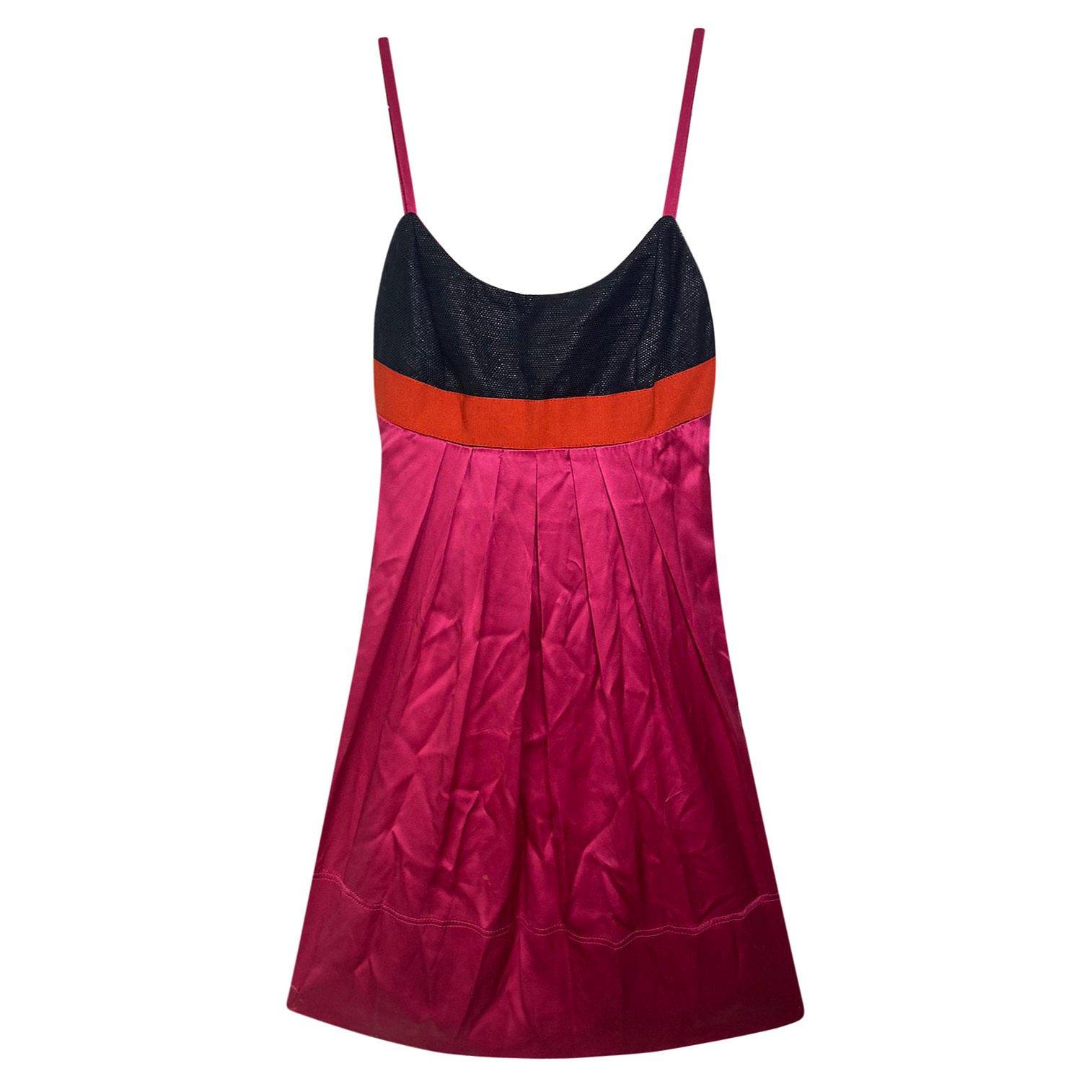 PINKO Colour-Block Sleeveless Dress