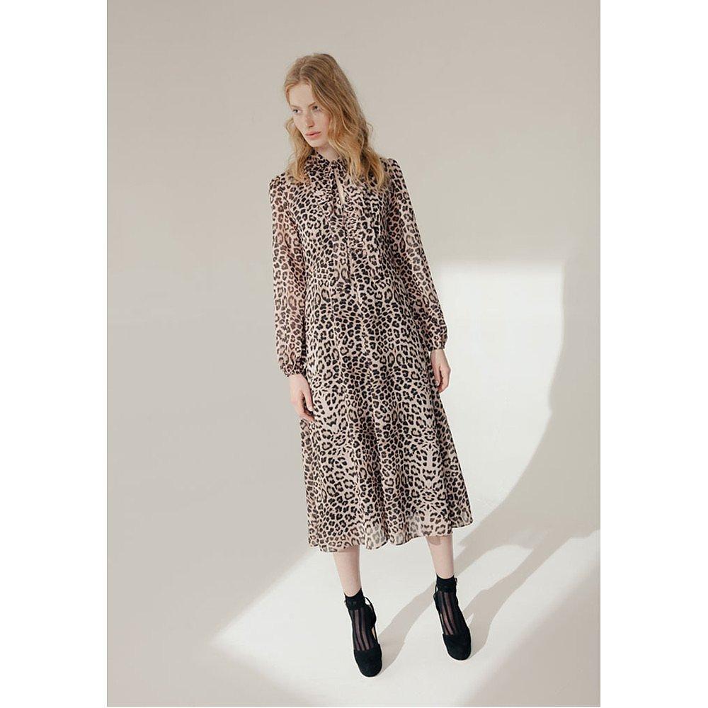 Lily and Lionel Safari Leopard Print 70s Dress
