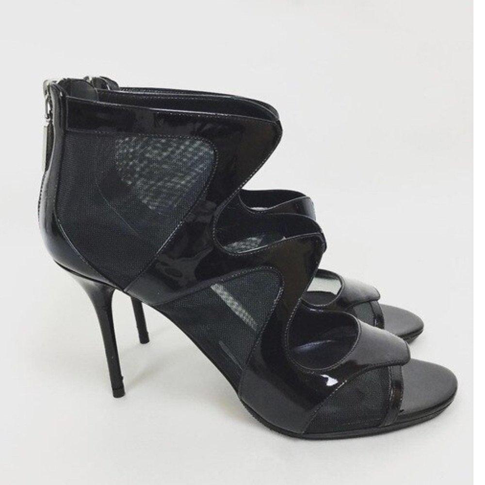Alexander McQueen Patent Leather & Mesh Pumps