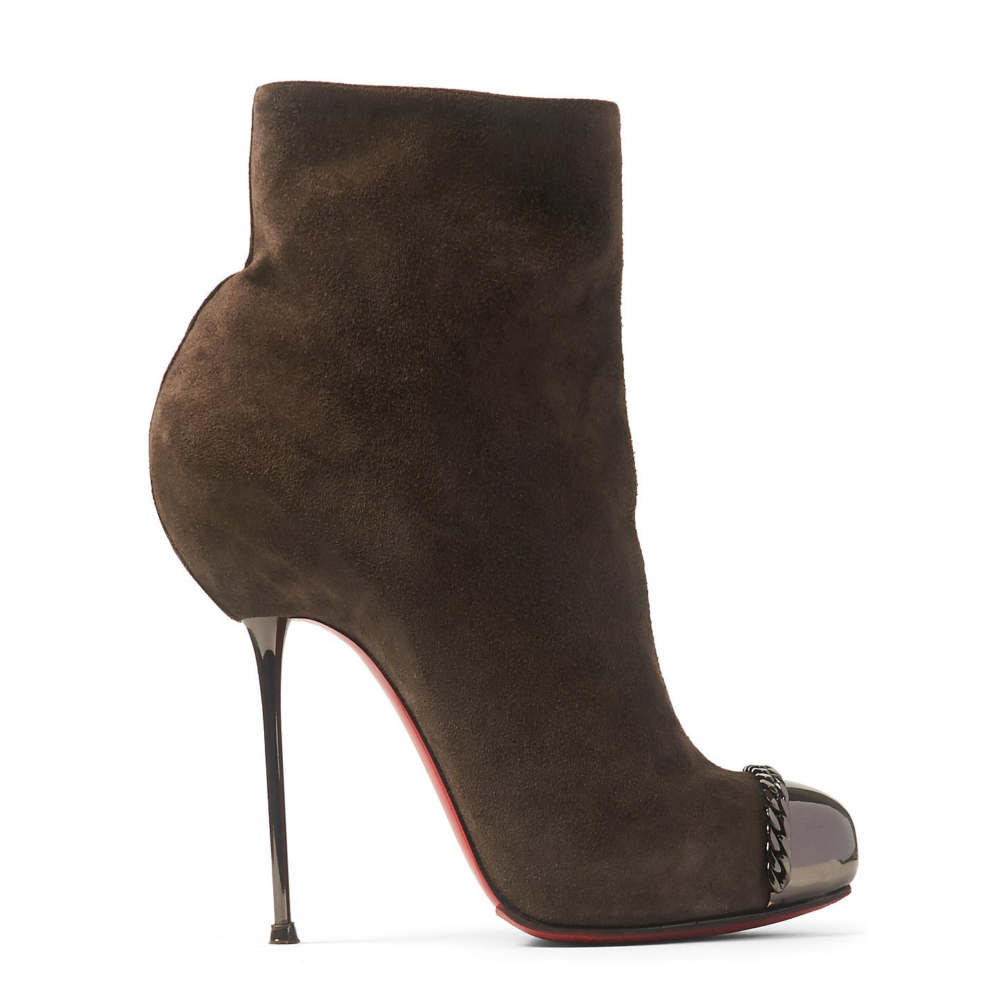 Christian Louboutin Suede Stiletto Ankle Boots