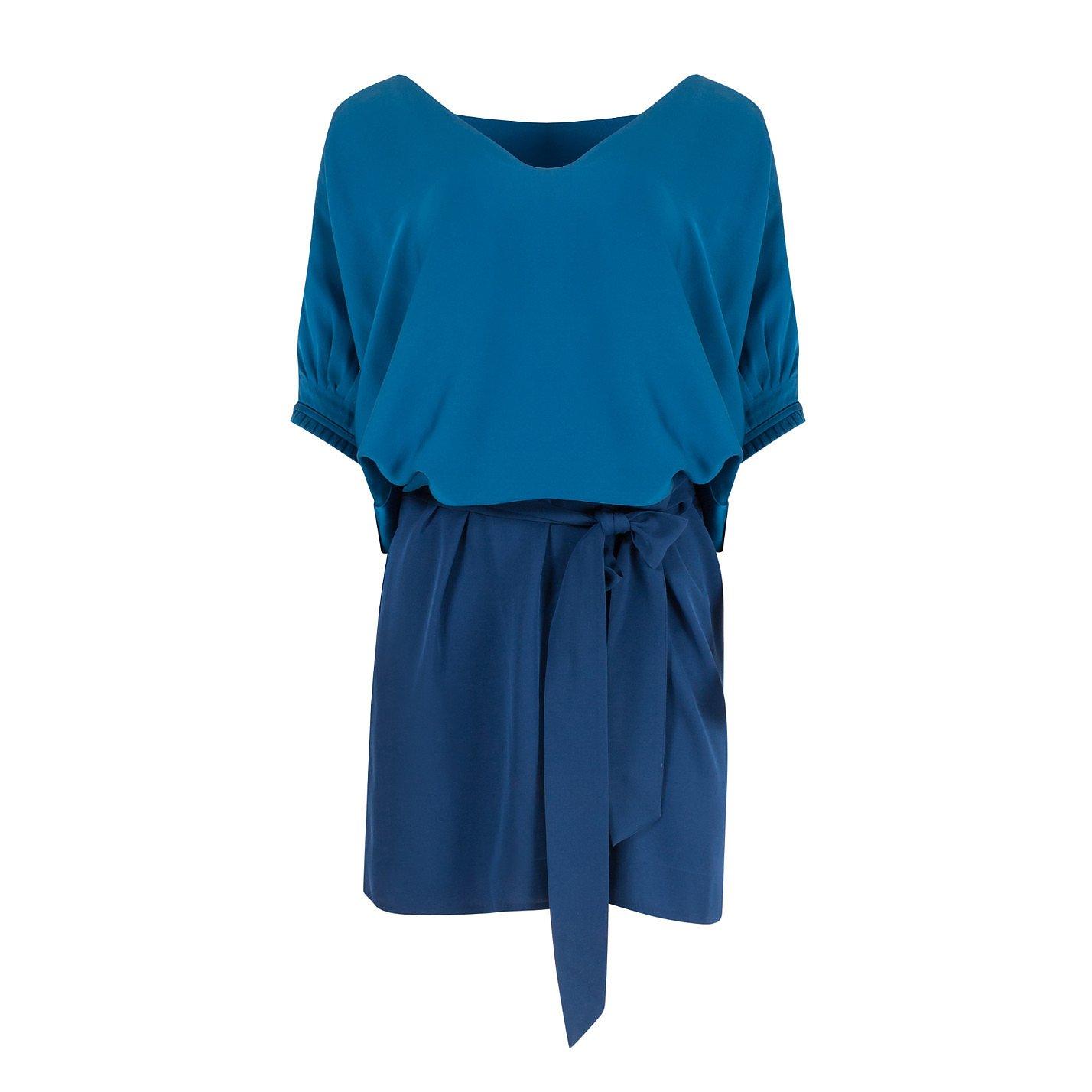 Diane von Furstenberg Edna Two-Tone Silk Dress