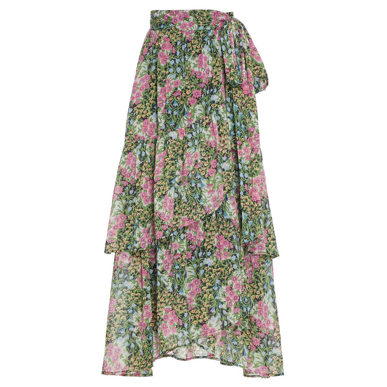 Banjanan Frances Floral Wrap Skirt
