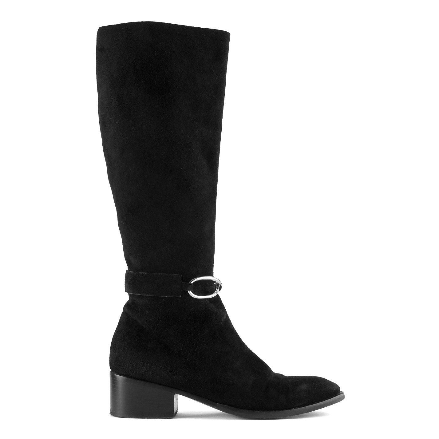 Balenciaga Suede Knee High Boots