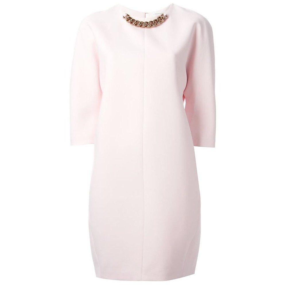 Victoria Beckham Chain-Collar Shift Dress