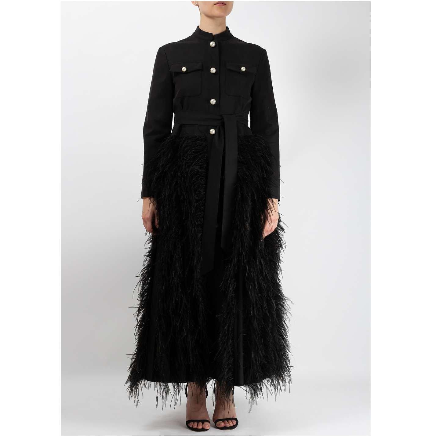 Huishan Zhang Feather Detail Coat