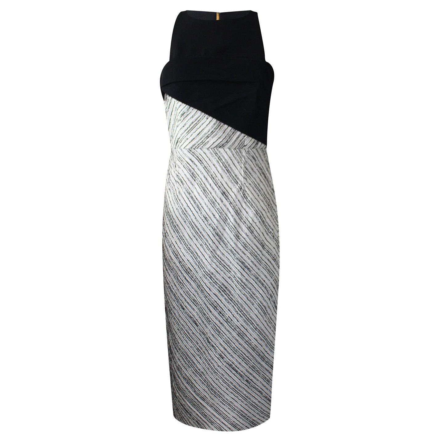 Roland Mouret Contrast-Panel Midi Dress