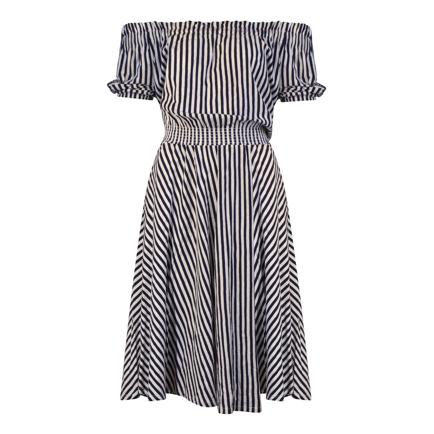 MDS Stripes Striped Cotton Dress