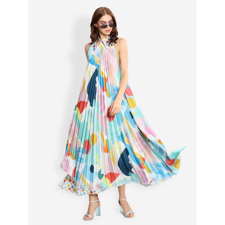 L'Mane Colourful Asymmetric Dress