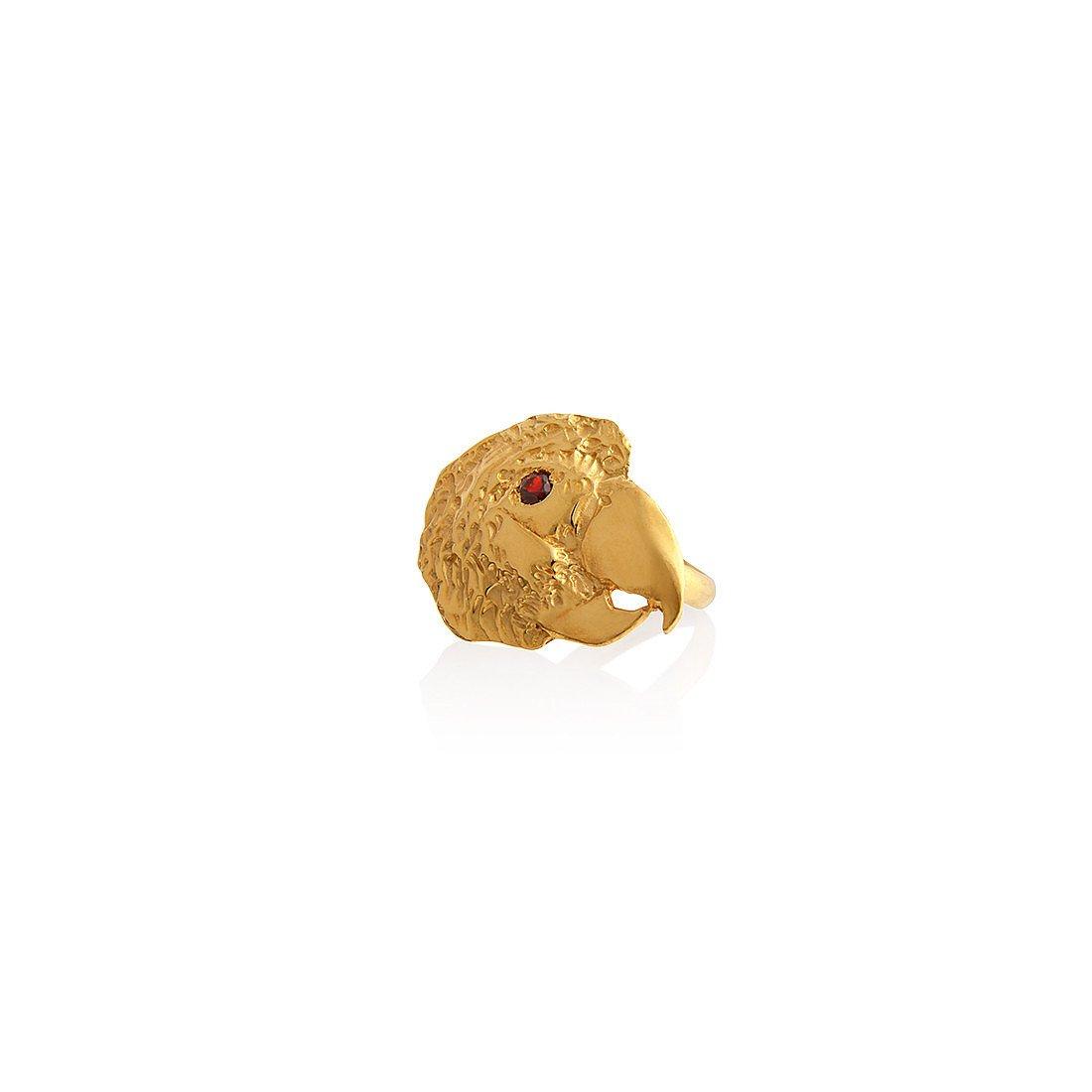 Dominique Lucas Parrot Head Ring Gold