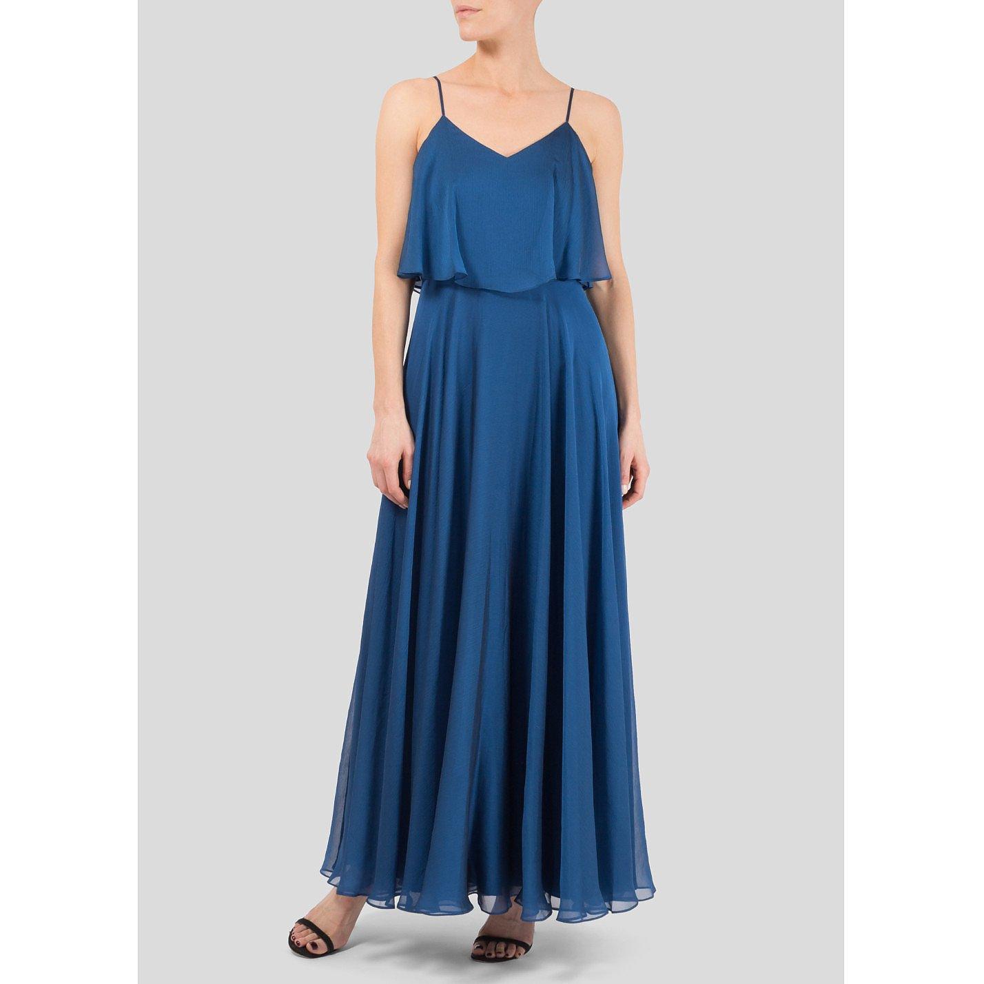 Halston Heritage Layered Chiffon Gown