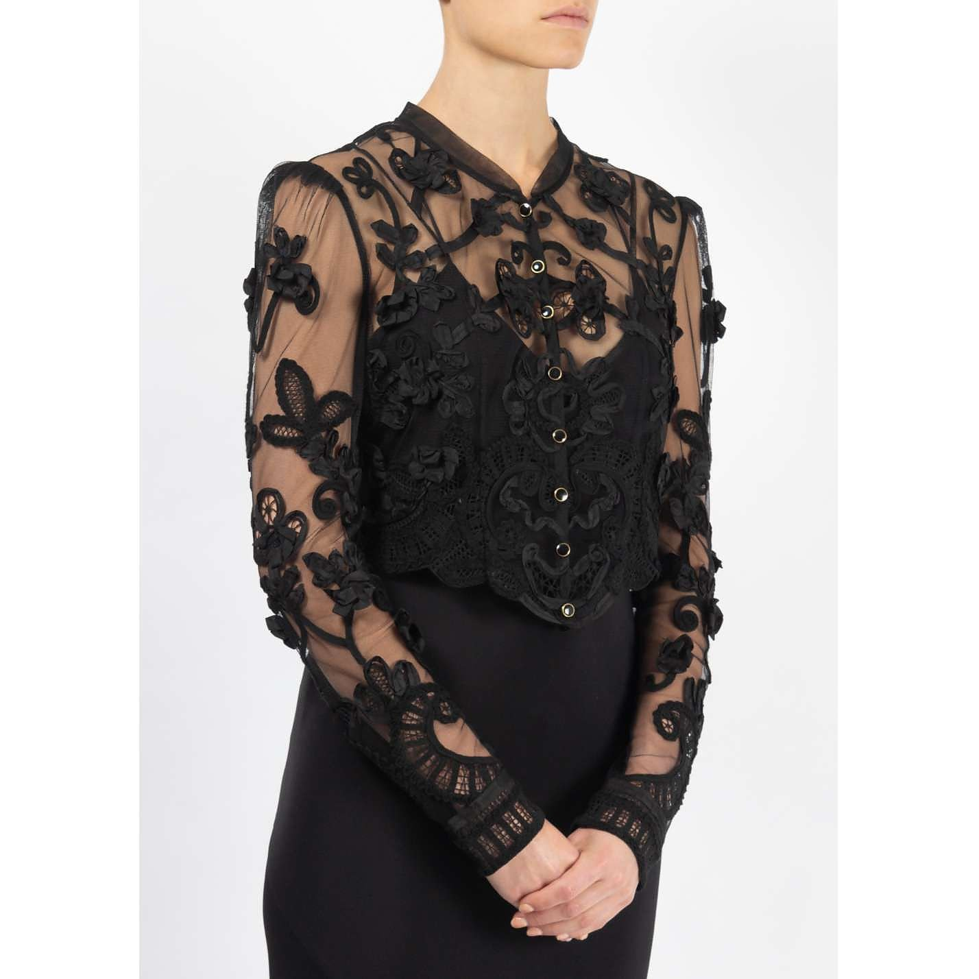 Temperley London Embroidered Mesh Jacket